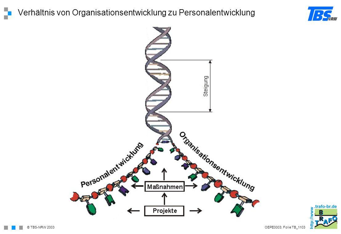 Verhältnis von Organisationsentwicklung zu Personalentwicklung