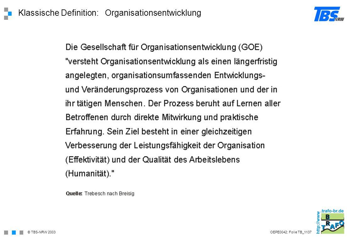 Klassische Definition: Organisationsentwicklung