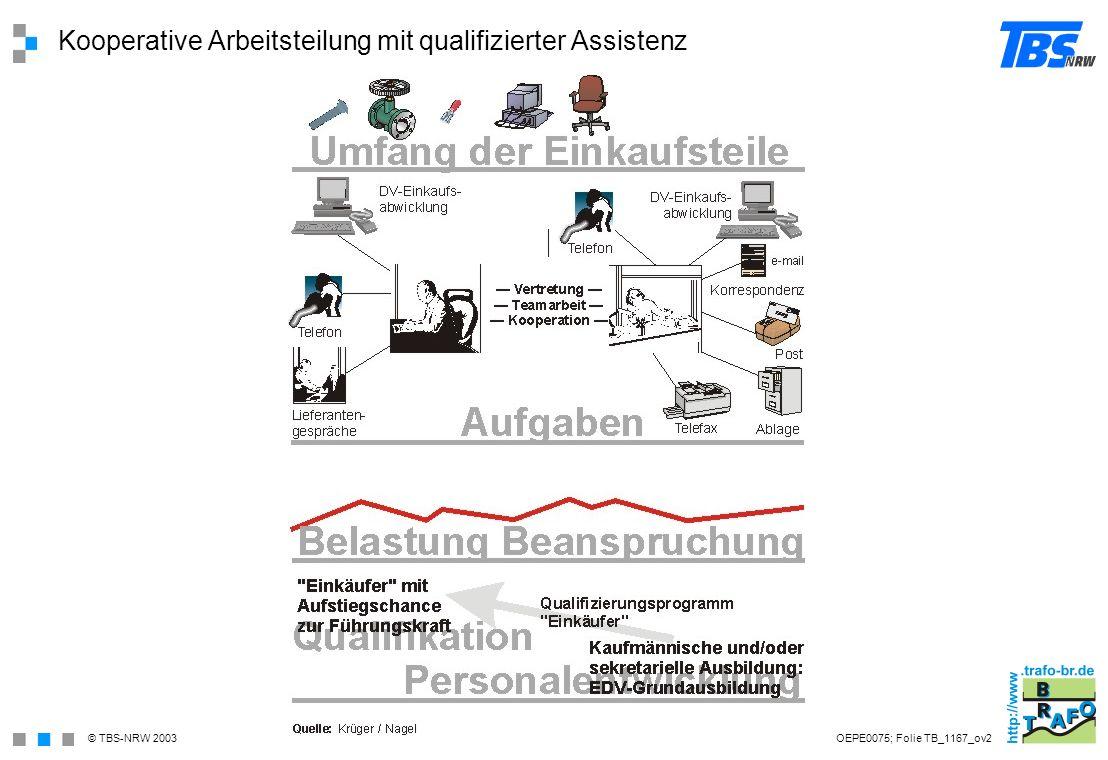 Kooperative Arbeitsteilung mit qualifizierter Assistenz