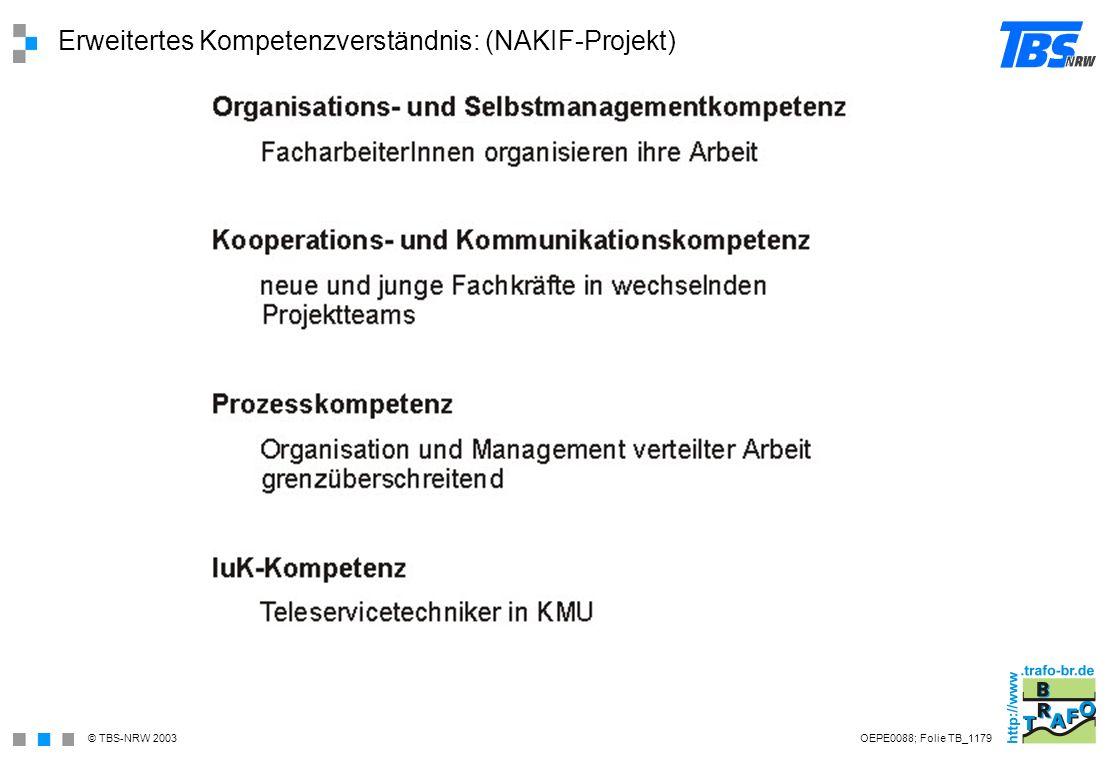 Erweitertes Kompetenzverständnis: (NAKIF-Projekt)