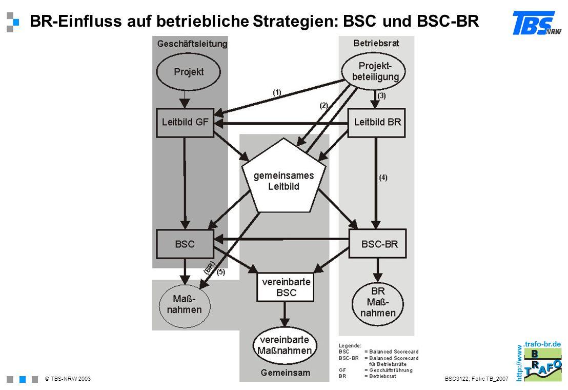 BR-Einfluss auf betriebliche Strategien: BSC und BSC-BR