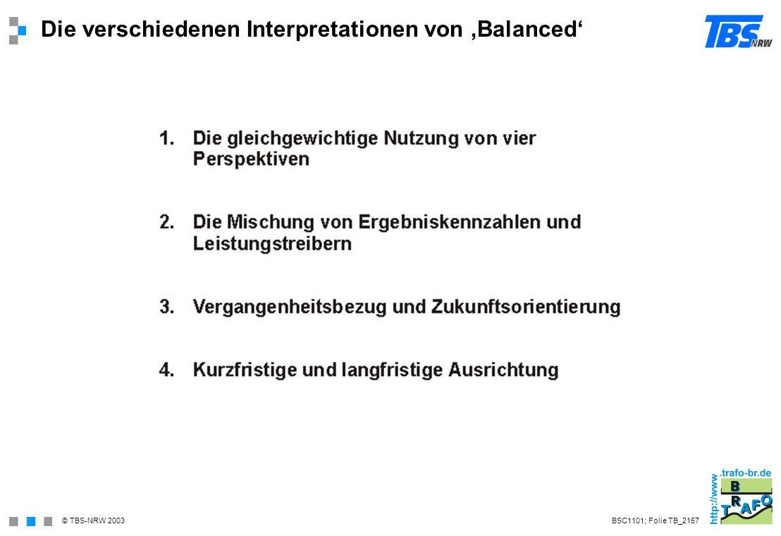 Die verschiedenen Interpretationen von 'Balanced'