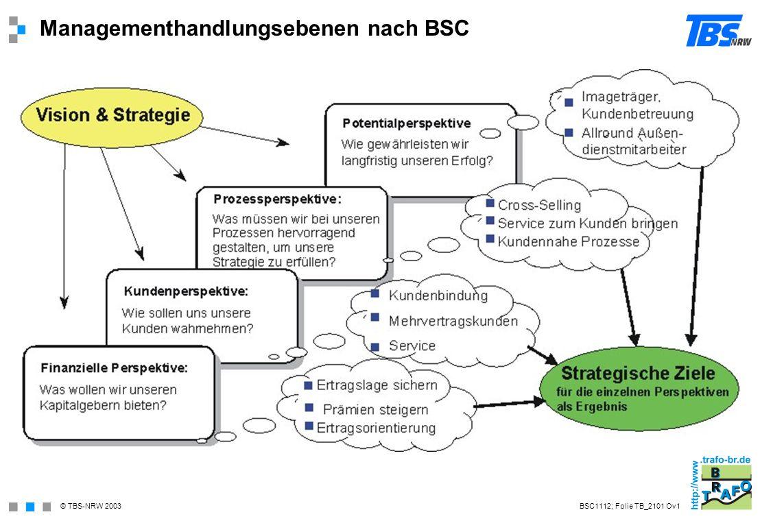 Managementhandlungsebenen nach BSC