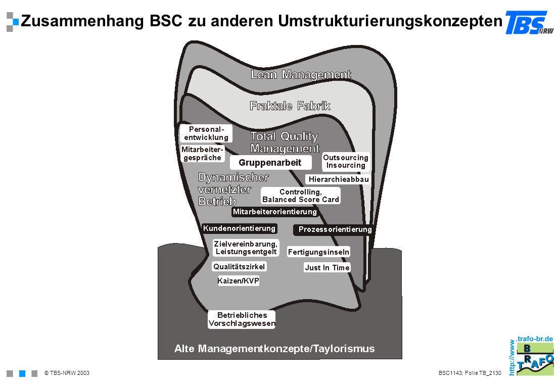 Zusammenhang BSC zu anderen Umstrukturierungskonzepten
