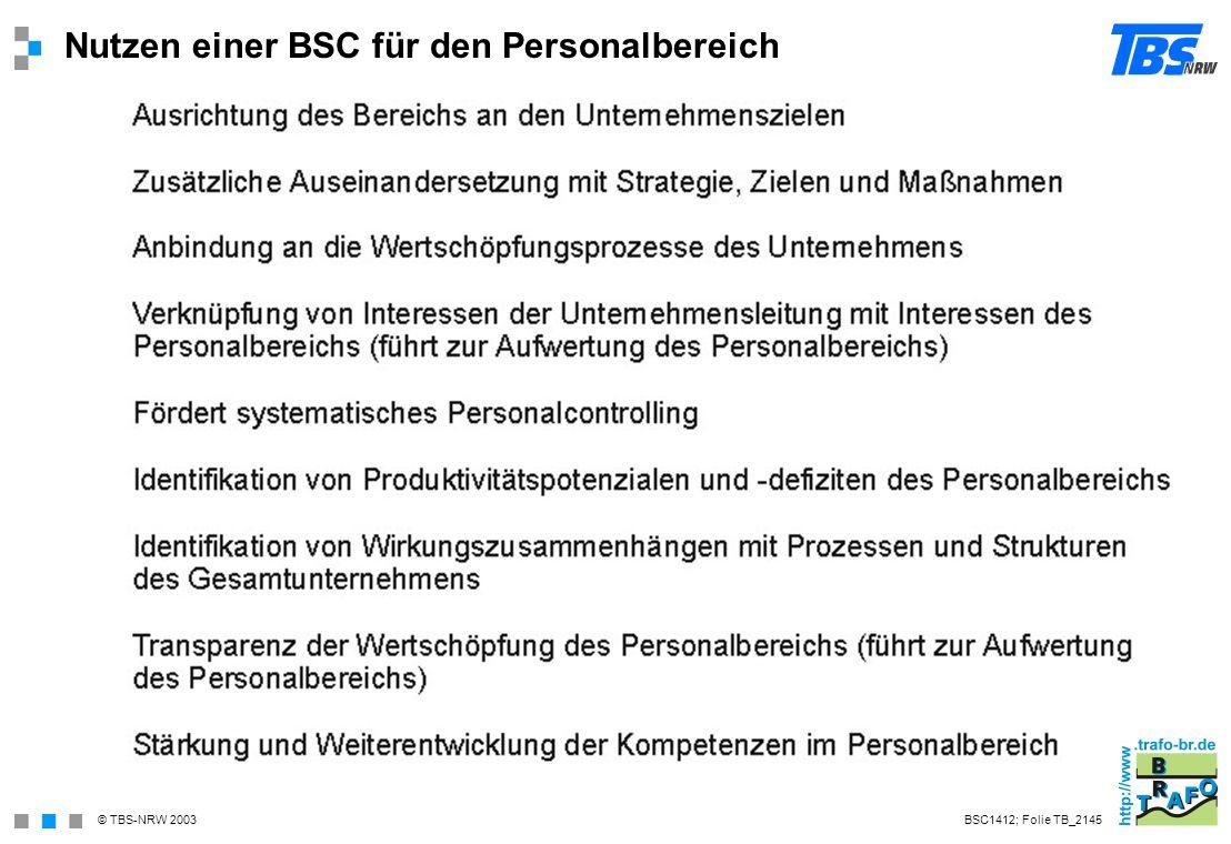 Nutzen einer BSC für den Personalbereich