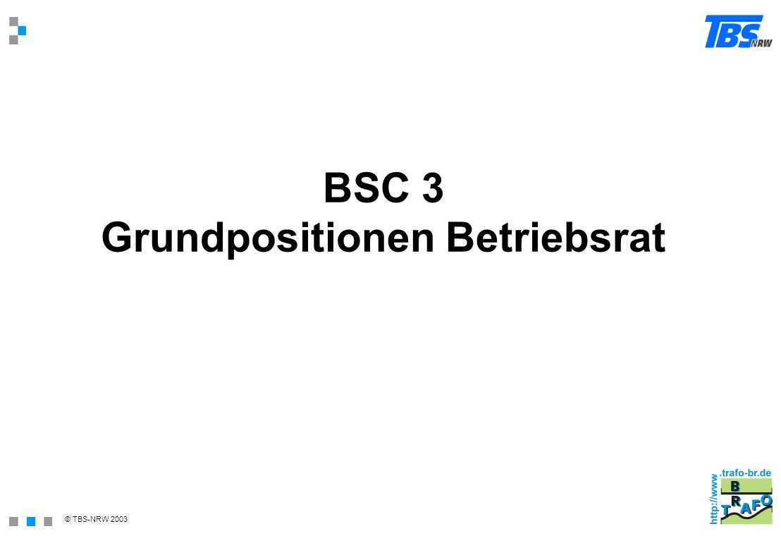 BSC 3 Grundpositionen Betriebsrat