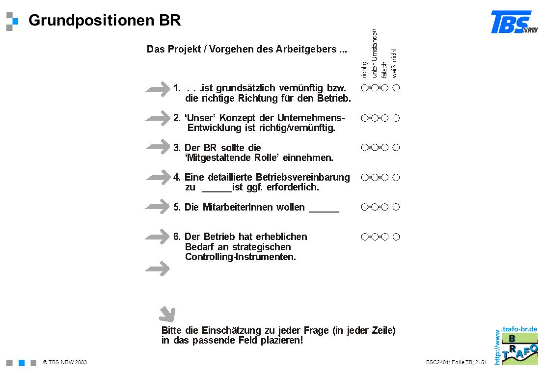 Grundpositionen BR BSC2401; Folie TB_2151