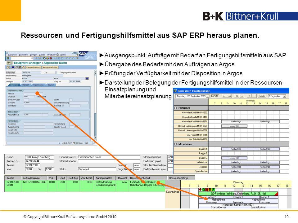 Ressourcen und Fertigungshilfsmittel aus SAP ERP heraus planen.