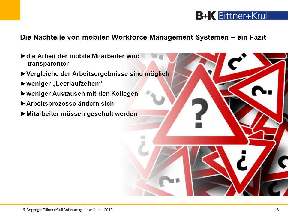 Die Nachteile von mobilen Workforce Management Systemen – ein Fazit