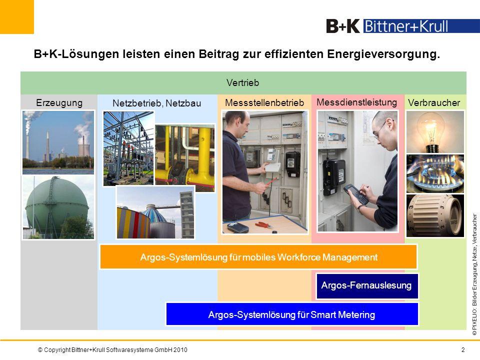 B+K-Lösungen leisten einen Beitrag zur effizienten Energieversorgung.