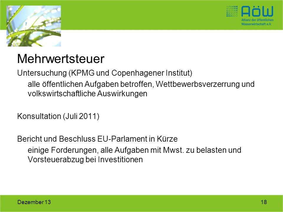 Mehrwertsteuer Untersuchung (KPMG und Copenhagener Institut)