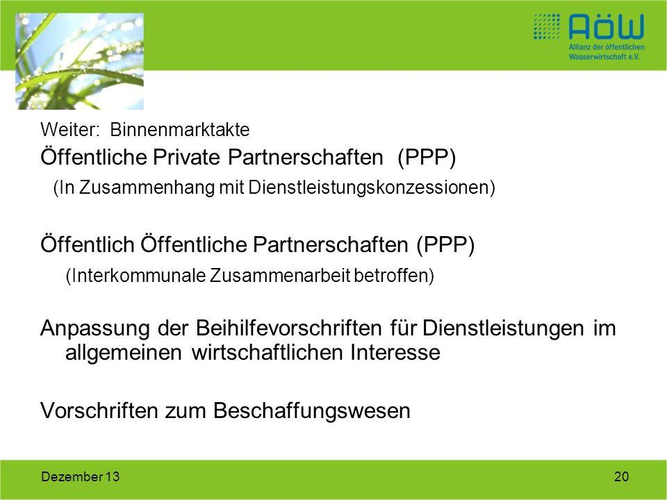Öffentliche Private Partnerschaften (PPP)