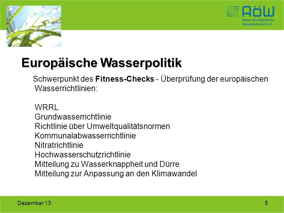 Europäische Wasserpolitik
