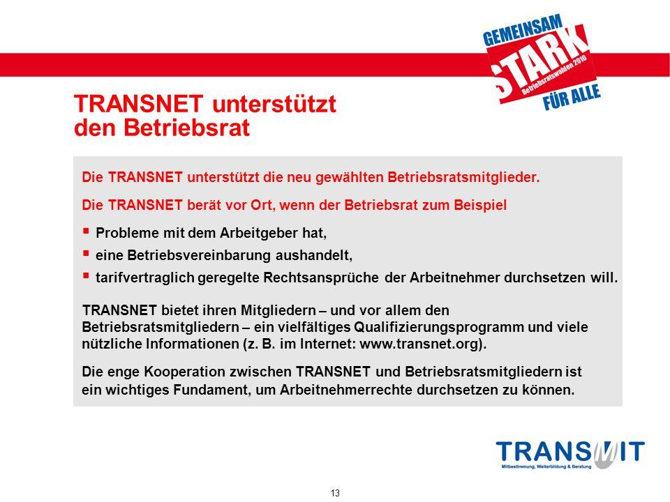 TRANSNET unterstützt den Betriebsrat