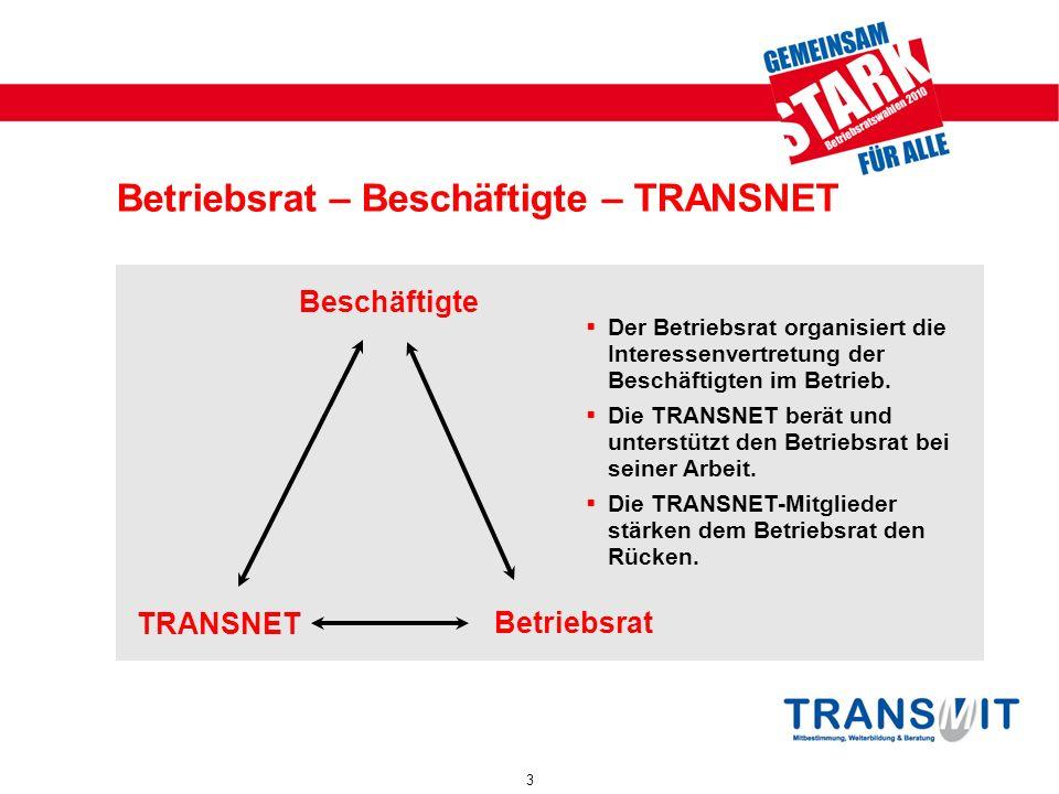 Betriebsrat – Beschäftigte – TRANSNET