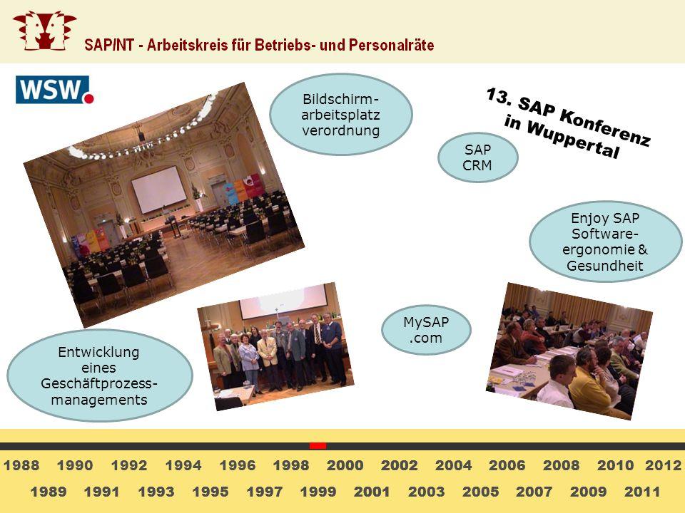 13. SAP Konferenz in Wuppertal Bildschirm-arbeitsplatz verordnung