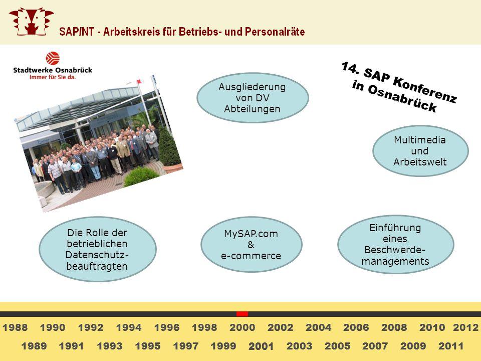 14. SAP Konferenz in Osnabrück Ausgliederung von DV Abteilungen