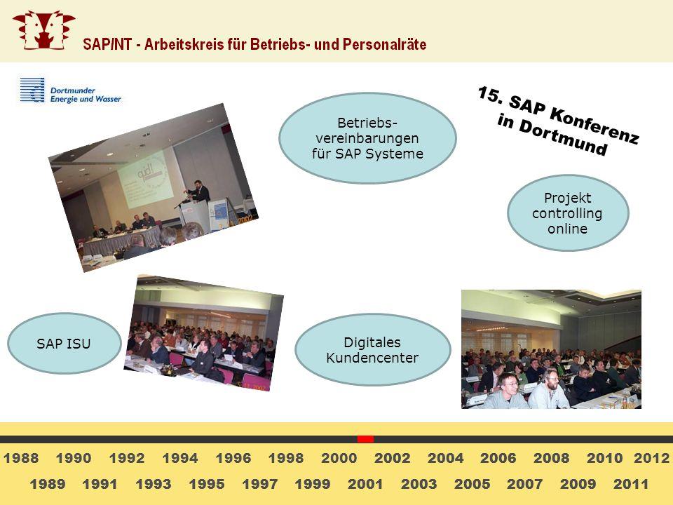 15. SAP Konferenz in Dortmund Betriebs-vereinbarungen für SAP Systeme