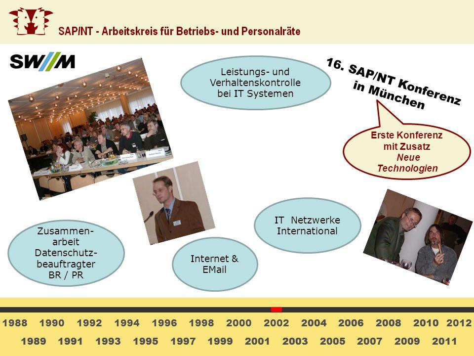 Erste Konferenz mit Zusatz Neue Technologien