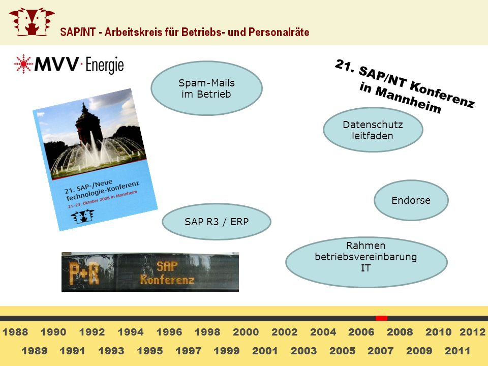 21. SAP/NT Konferenz in Mannheim Spam-Mails im Betrieb