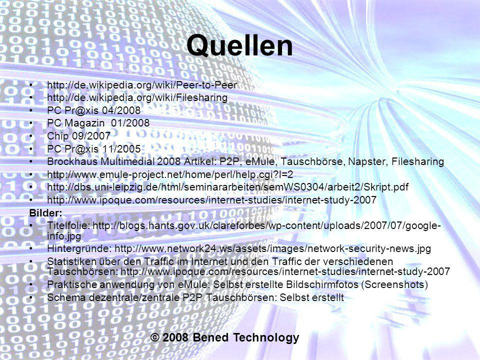Quellen © 2008 Bened Technology