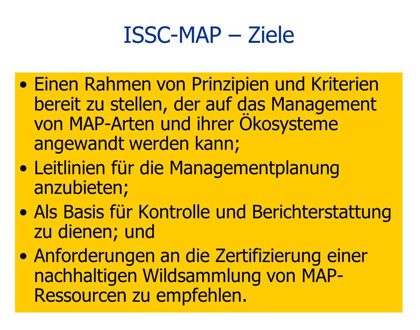 ISSC-MAP – Ziele
