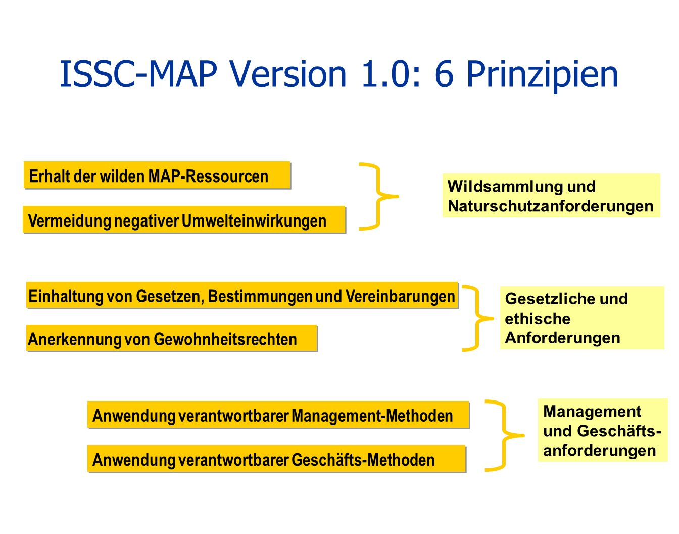 ISSC-MAP Version 1.0: 6 Prinzipien