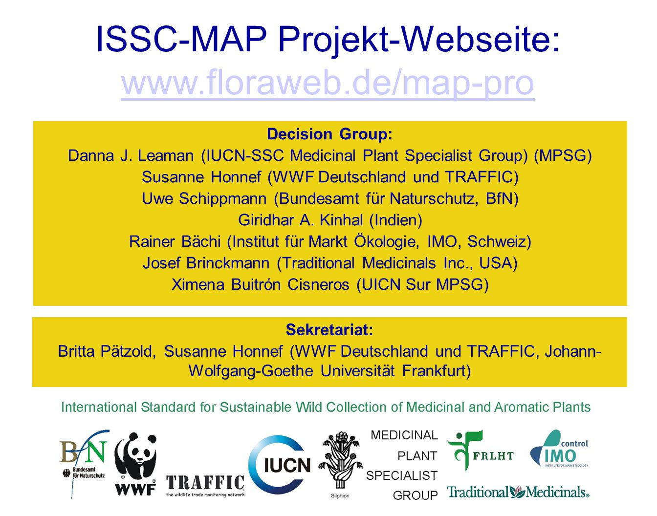 ISSC-MAP Projekt-Webseite: www.floraweb.de/map-pro