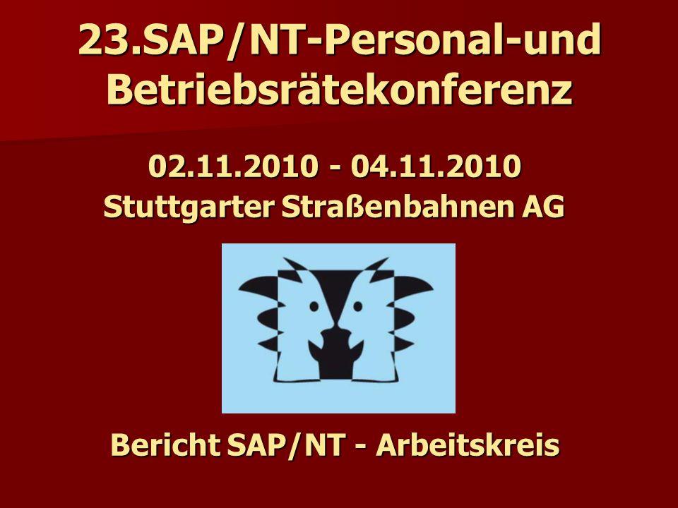 23.SAP/NT-Personal-und Betriebsrätekonferenz
