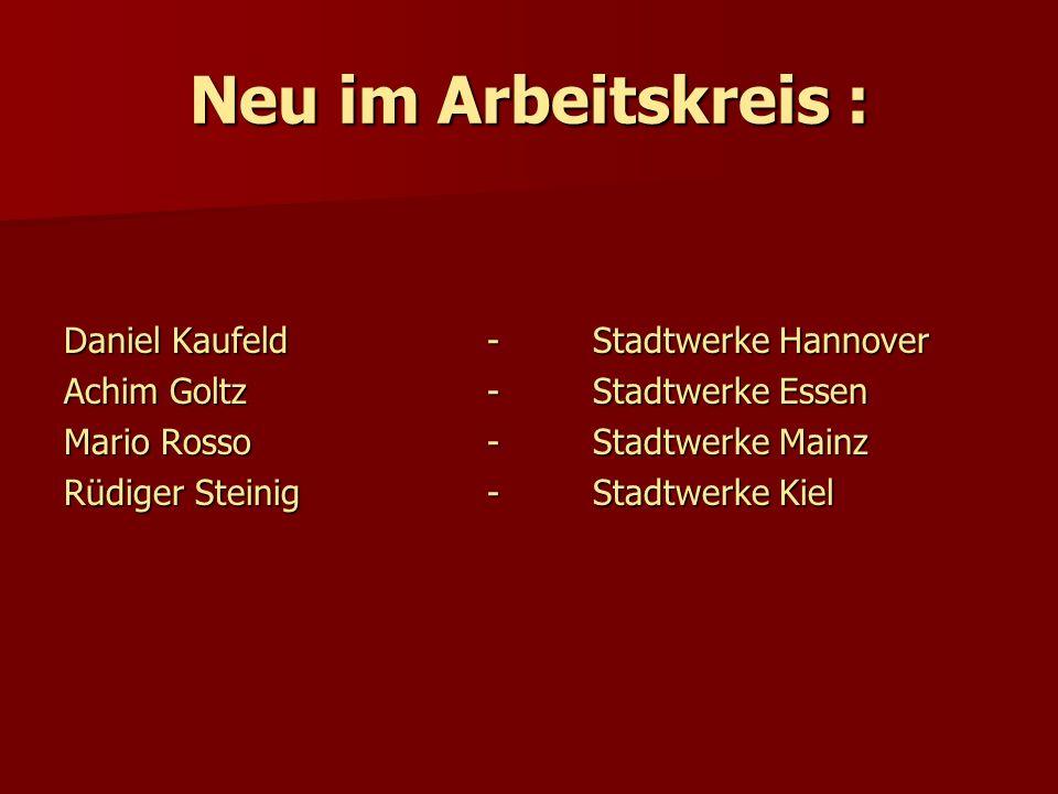 Neu im Arbeitskreis : Daniel Kaufeld - Stadtwerke Hannover
