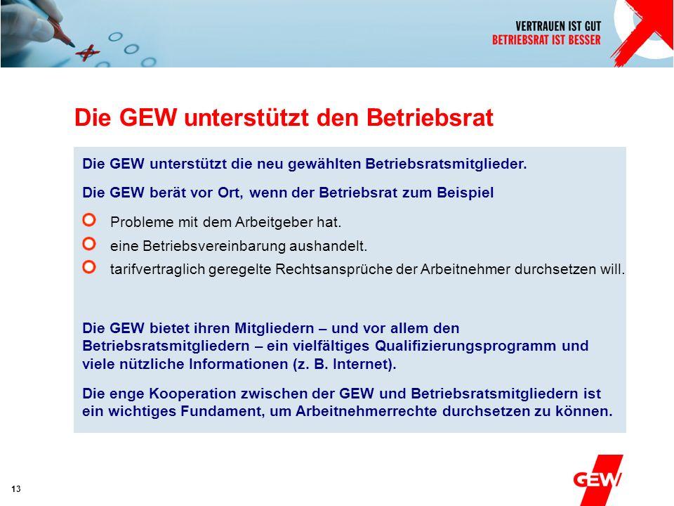 Die GEW unterstützt den Betriebsrat