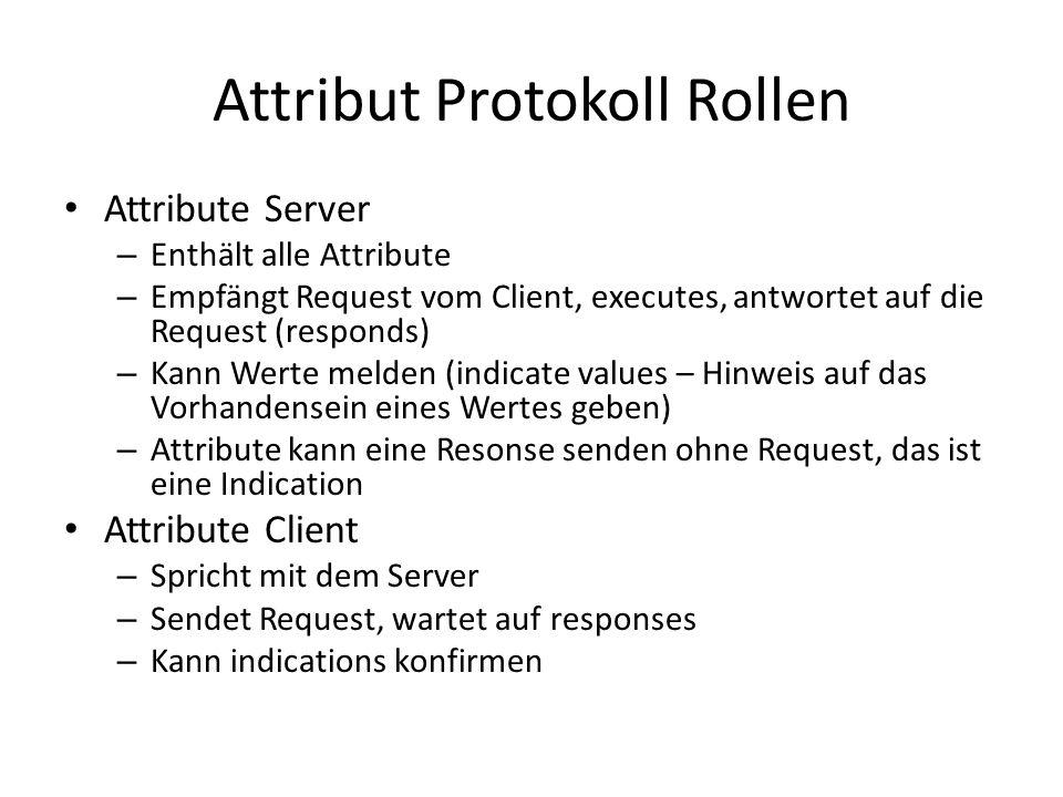 Attribut Protokoll Rollen