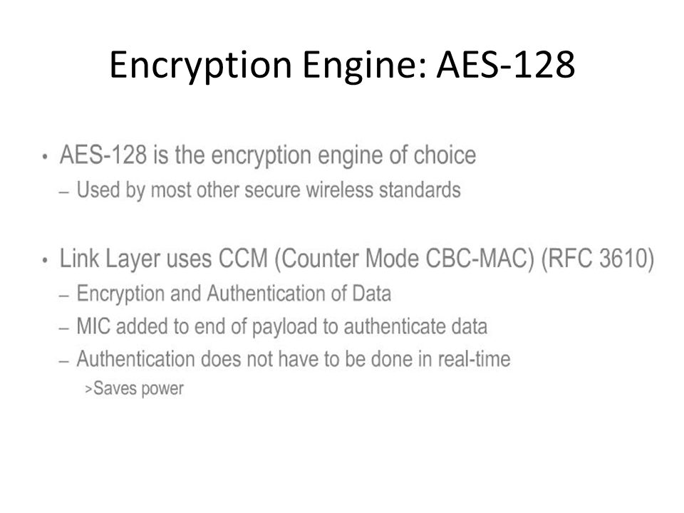 Encryption Engine: AES-128