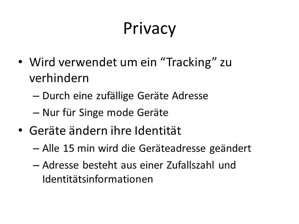 Privacy Wird verwendet um ein Tracking zu verhindern