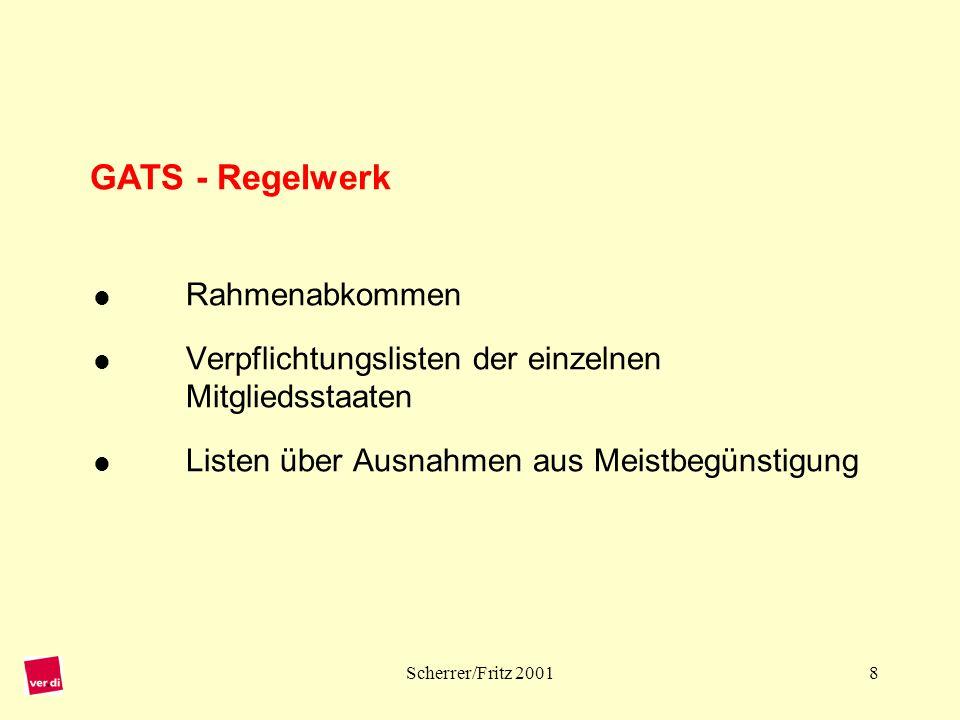GATS - Regelwerk . Rahmenabkommen 