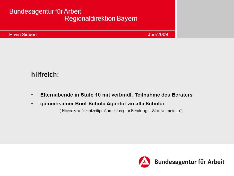 Bundesagentur für Arbeit Regionaldirektion Bayern