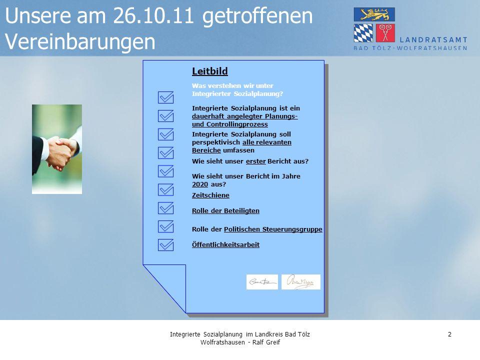 Unsere am 26.10.11 getroffenen Vereinbarungen