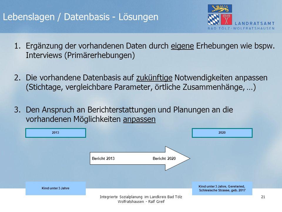 Lebenslagen / Datenbasis - Lösungen