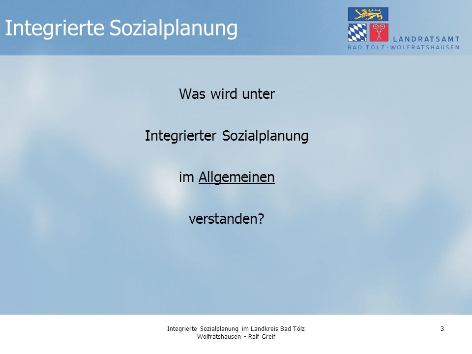 Integrierte Sozialplanung