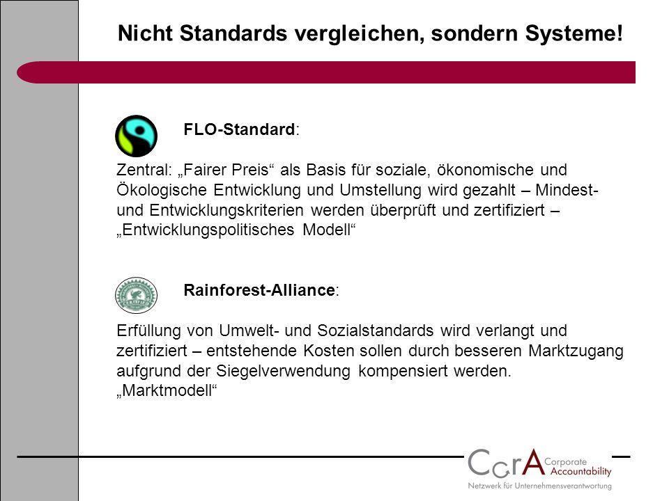 Nicht Standards vergleichen, sondern Systeme!