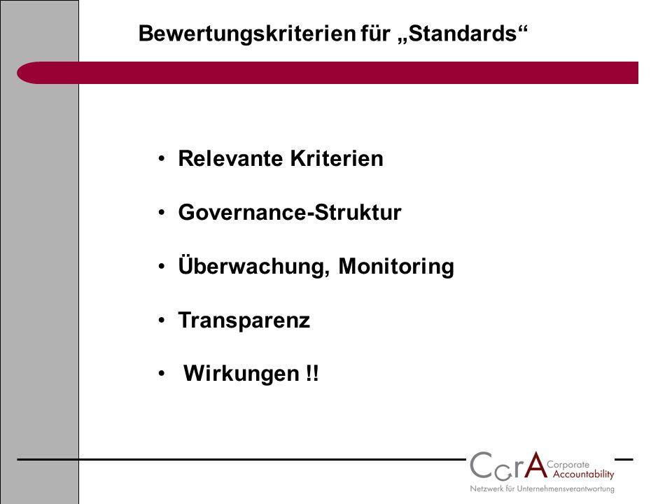 """Bewertungskriterien für """"Standards"""