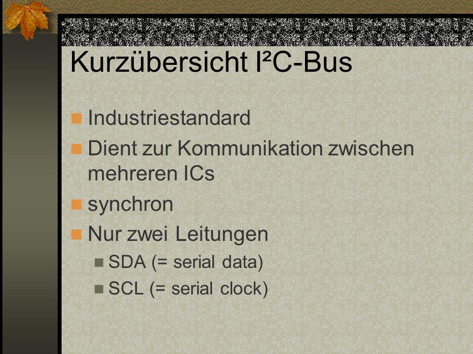 Kurzübersicht I²C-Bus