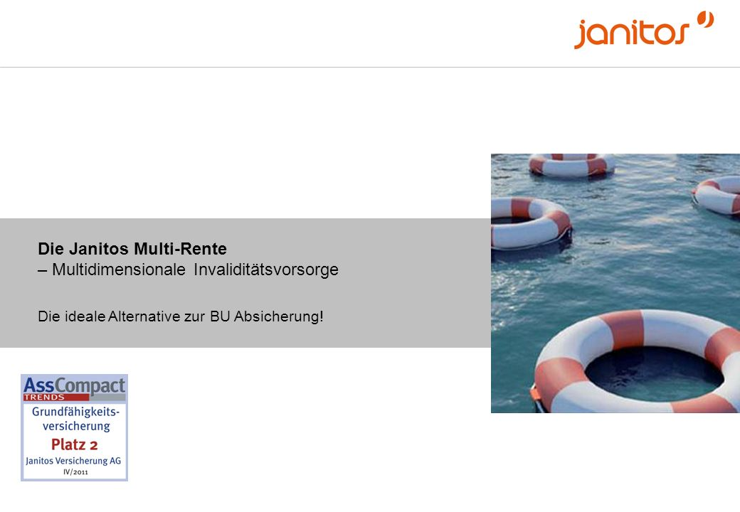 Die Janitos Multi-Rente – die moderne Form der Absicherung bei Krankheit und Unfall.