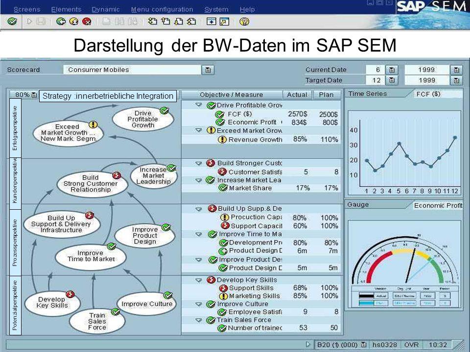 Darstellung der BW-Daten im SAP SEM