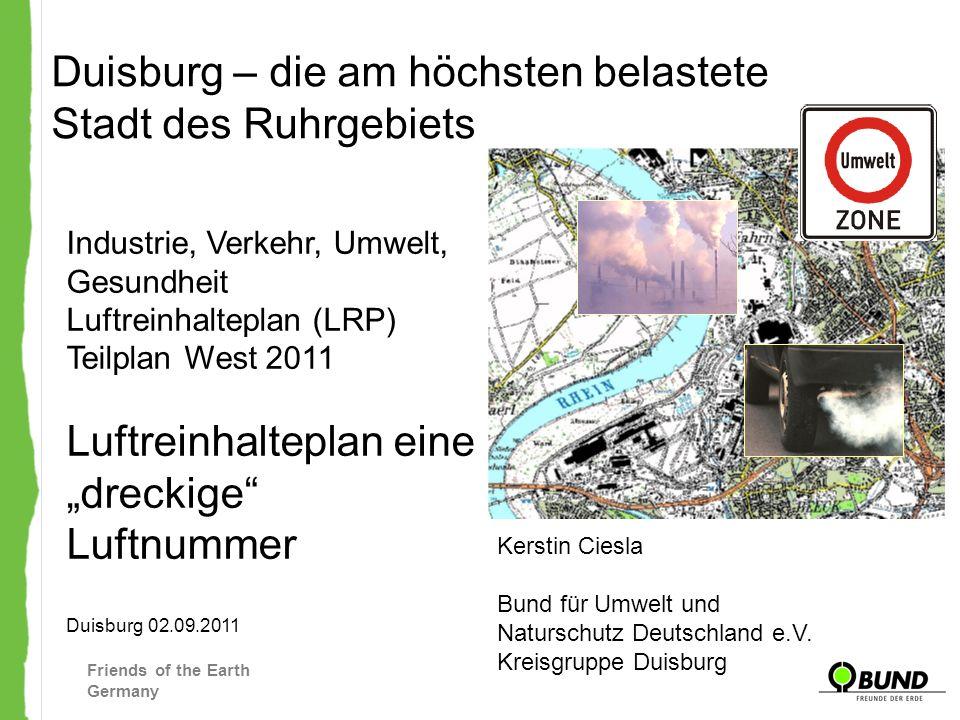 Duisburg – die am höchsten belastete Stadt des Ruhrgebiets