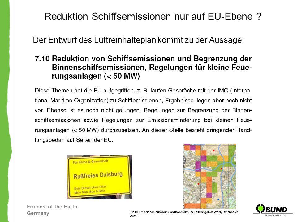 Reduktion Schiffsemissionen nur auf EU-Ebene