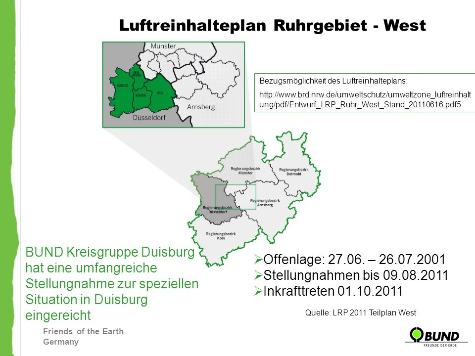 Quelle: LRP 2011 Teilplan West