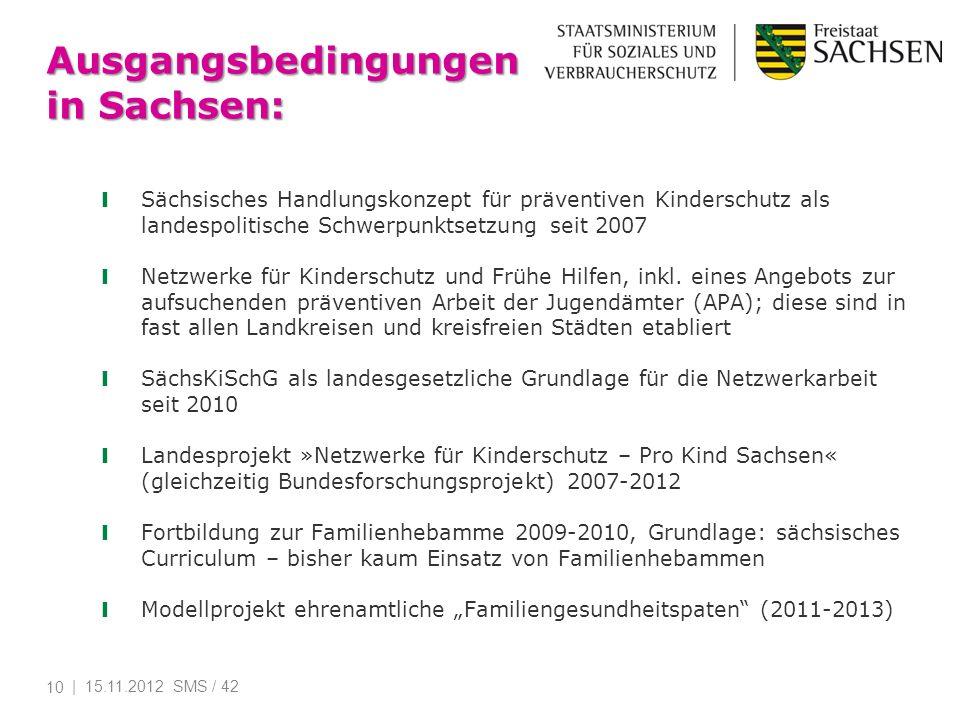 Ausgangsbedingungen in Sachsen:
