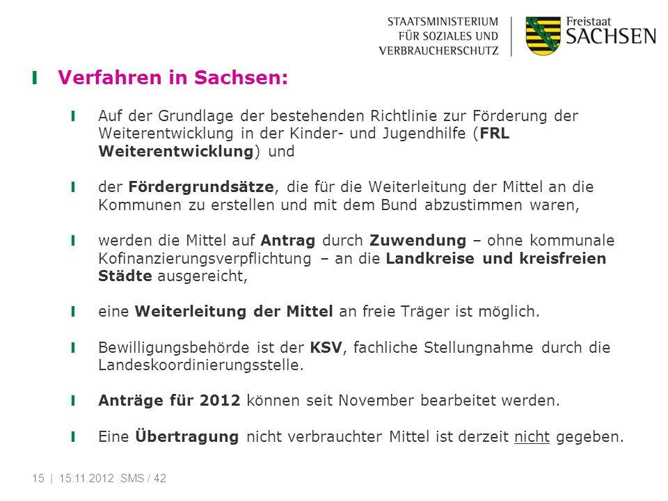 Verfahren in Sachsen: