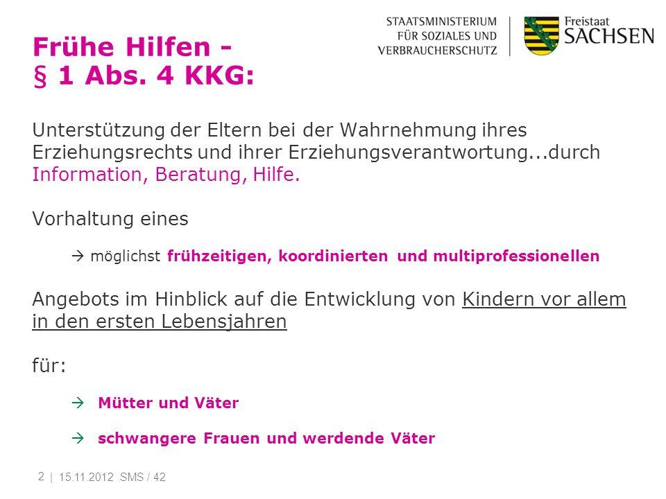 Frühe Hilfen - § 1 Abs. 4 KKG: